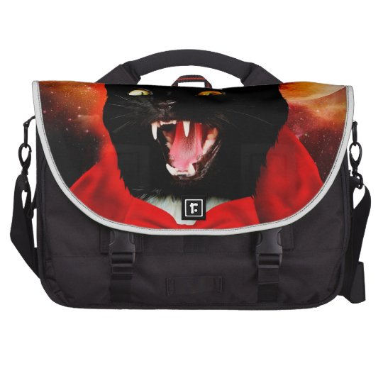cat vampire - black cat - funny cats laptop bag