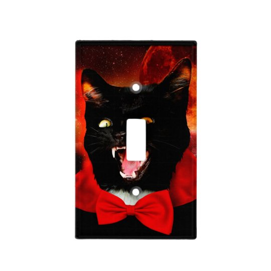 cat vampire - black cat - funny cats light switch cover