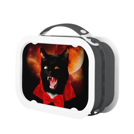 cat vampire - black cat - funny cats lunch box
