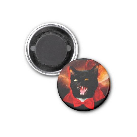 cat vampire - black cat - funny cats magnet
