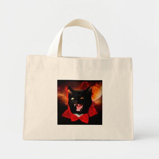 cat vampire - black cat - funny cats mini tote bag