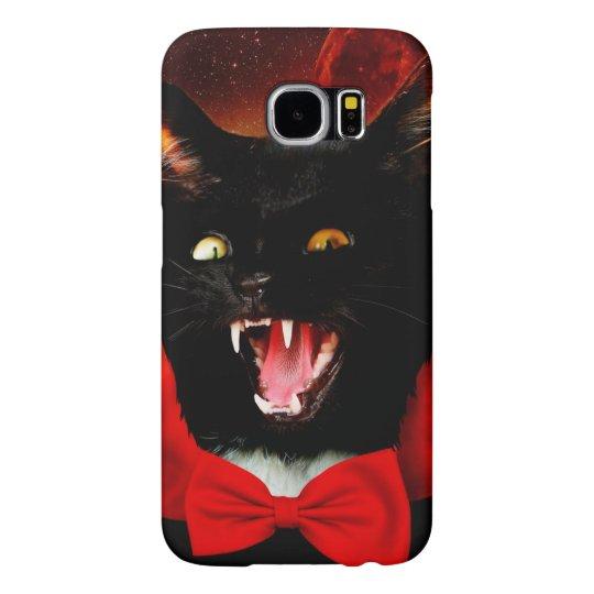 cat vampire - black cat - funny cats samsung galaxy s6 cases