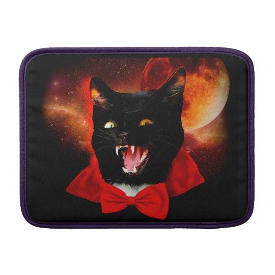 cat vampire - black cat - funny cats sleeve for MacBook air