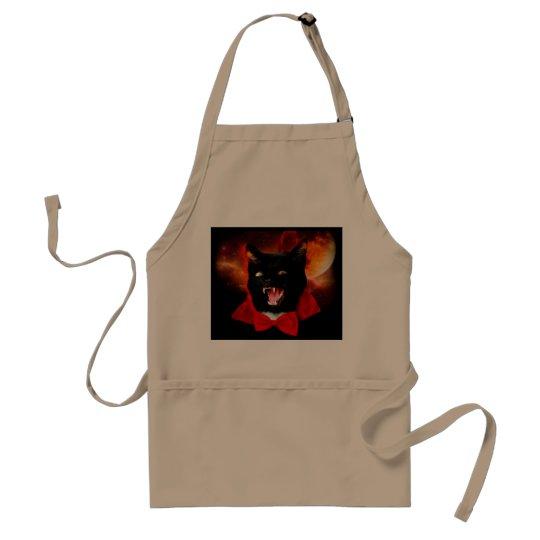 cat vampire - black cat - funny cats standard apron