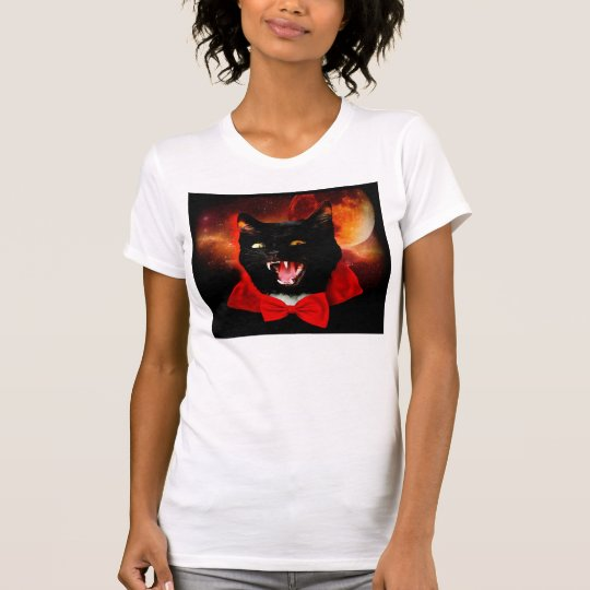 cat vampire - black cat - funny cats T-Shirt