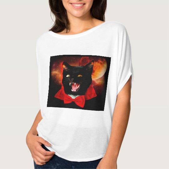 cat vampire - black cat - funny cats T-Shirt