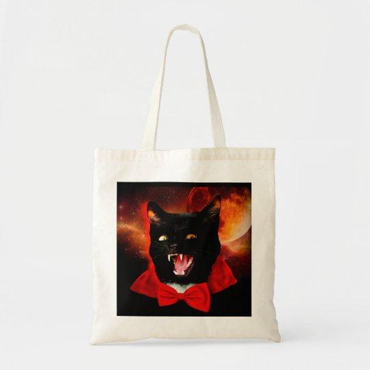 cat vampire - black cat - funny cats tote bag