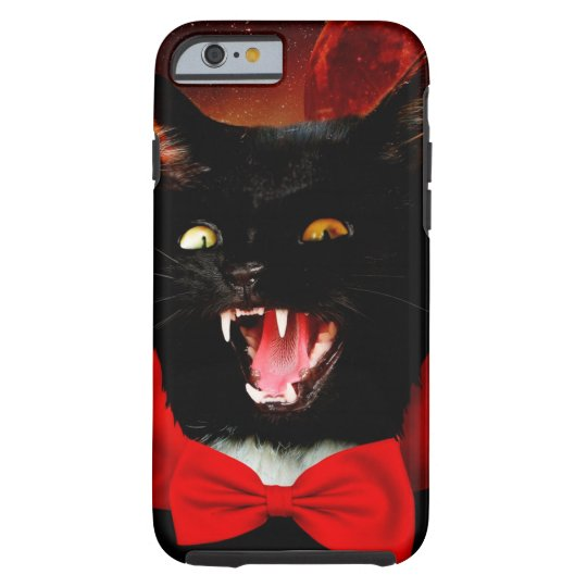cat vampire - black cat - funny cats tough iPhone 6 case