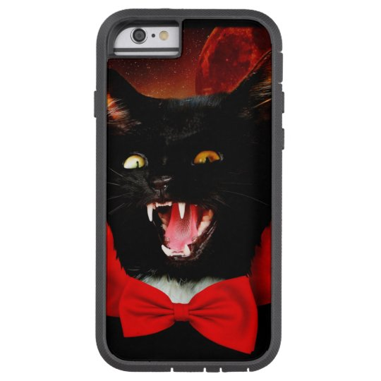 cat vampire - black cat - funny cats tough xtreme iPhone 6 case
