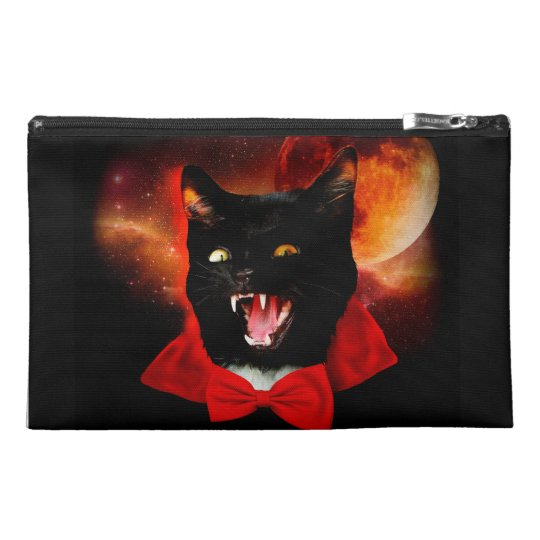 cat vampire - black cat - funny cats travel accessory bag