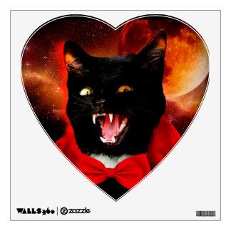 cat vampire - black cat - funny cats wall sticker