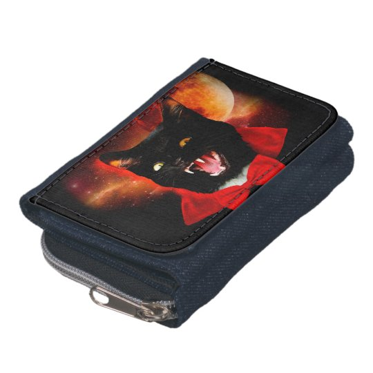 cat vampire - black cat - funny cats wallets