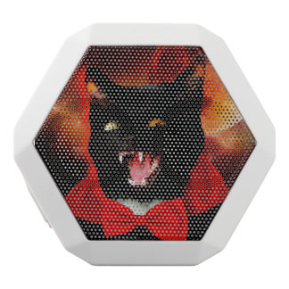 cat vampire - black cat - funny cats white bluetooth speaker