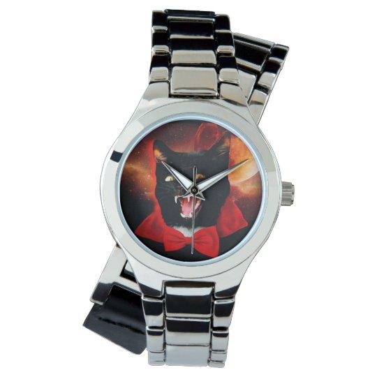 cat vampire - black cat - funny cats wristwatches
