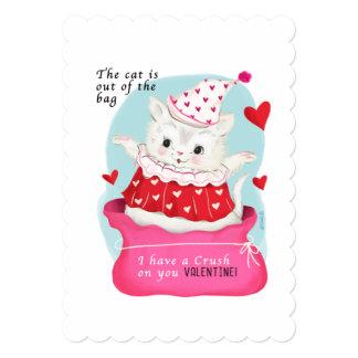 Cat Vintage Valentine Card