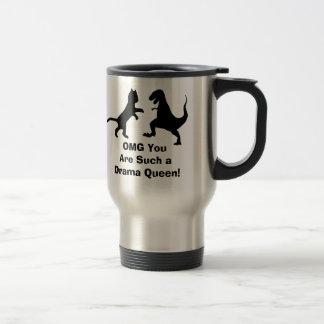 cat vs t-rex - OMG DRAMA QUEEN! Travel Mug