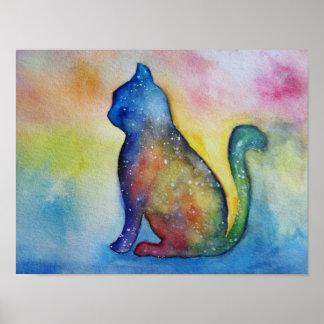 Cat Watercolor Art, Value Poster Paper (M