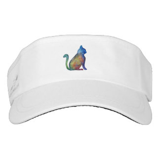 Cat Watercolor Art Visor