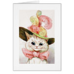 Cat wearing a hat, Louis Wain Greeting Card