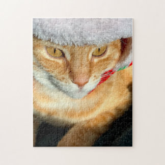 Cat wearing furry hat jigsaw puzzle