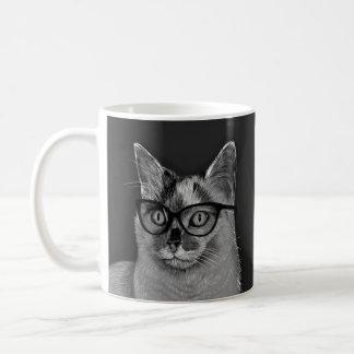 Cat Wearing Glasses Mug