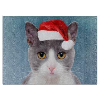 Cat wearing Santa Hat Christmas Portrait Boards