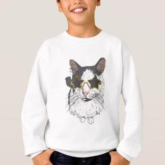 Cat Wearing Star Glasses Sweatshirt