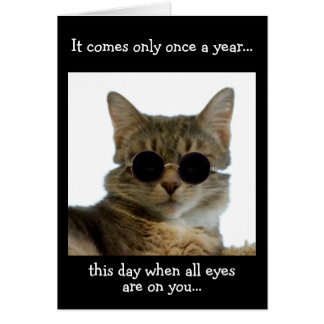 Cat Wearing Sunglasses Card