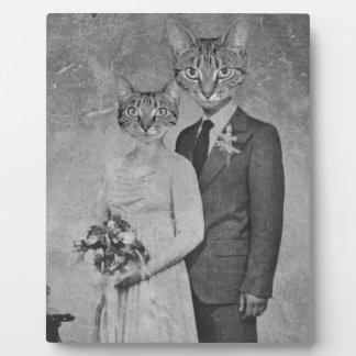 Cat wedding plaque