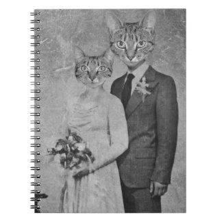 Cat wedding spiral notebook