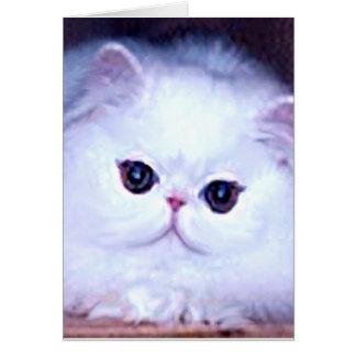 Cat White Persian Kitten Kitty Card