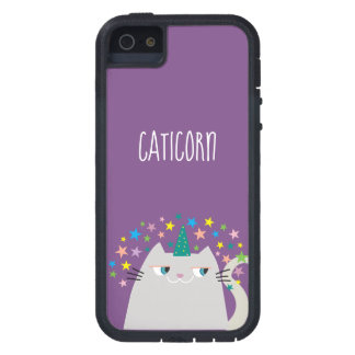 Cat White Unicorn Caticorn Colorful Stars Purple iPhone 5 Case