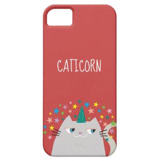 Cat White Unicorn Caticorn Colorful Stars Red Chic iPhone 5 Cover