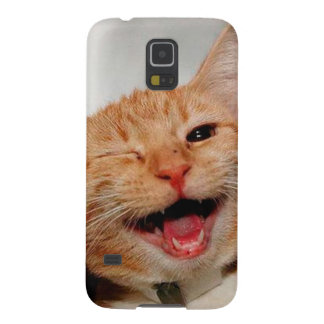 Cat winking - orange cat - funny cats - cat smile galaxy s5 cover