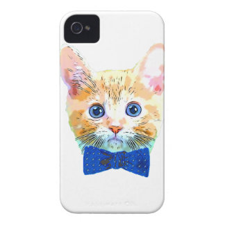 Cat with a bow tie Case-Mate iPhone 4 cases