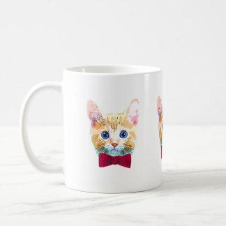 Cat with a bow tie coffee mug