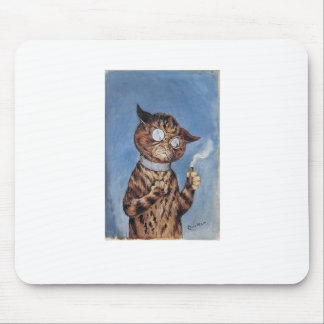 Cat With A Cigar Mouse Pad