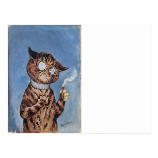 Cat With A Cigar Postcard