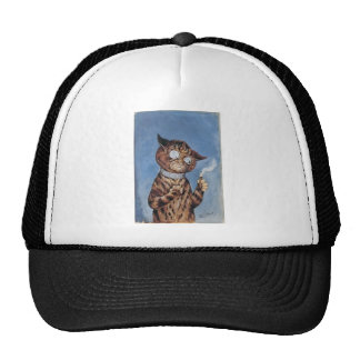Cat With A Cigar Trucker Hat