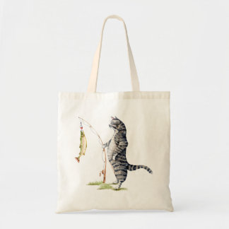 Cat with a Fish Tote Bag