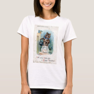 Cat with a kettle, Louis Wain T-Shirt