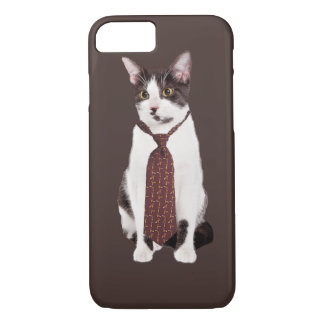 Cat With A Tie iPhone 7 Case