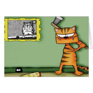 Cat with an Axe Card
