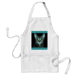 Cat with Aqua Eyes Customize pet house Eye Standard Apron