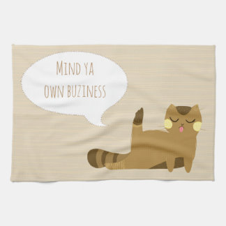 Cat with attitude kitchen towel