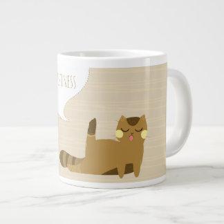 Cat with attitude large coffee mug