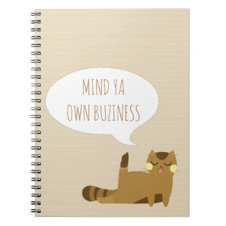 Cat with attitude notebook