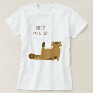 Cat with attitude T-Shirt
