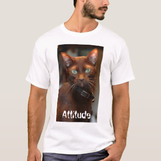 Cat with Attitude T T-Shirt