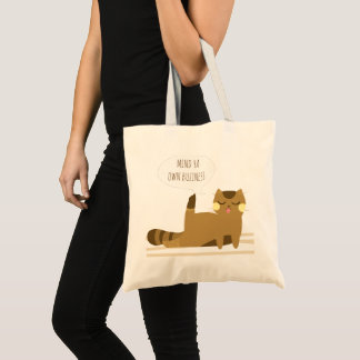 Cat with attitude tote bag